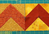make striking borders with half square triangles quilting Interesting Triangle Quilt Border Pattern Gallery