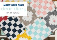 make your own dear diary quilt block a aqua paisley studio Cool Make Your Own Quilt Pattern