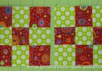 making nine patch quilt blocks is as easy using just two Nine Block Quilt Pattern Inspirations