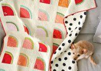 mod melons free quilt pattern suzy quilts Unique Watermelon Quilt Pattern Inspirations