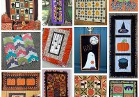 Modern 12 halloween wall hanging quilt patterns hidden treasure 11 Interesting Quilt Wall Hanging Patterns