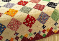 Modern a nine patch diamond quilt vintage or modern quilting cub Cool Modern Vintage Quilts
