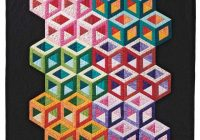 Modern abc 3 d tumbling blocks quilt with marci baker tumbling 10 Unique Building Block Quilt Pattern Inspirations