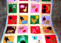Modern animal applique quilt pattern fun free applique 11 Stylish Easy Applique Quilt Patterns