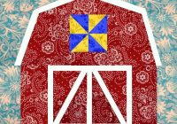 Modern barn quilt block paper pieced quilt pattern pdf pattern instant download barn pattern 9   Barn Quilt Block Pattern