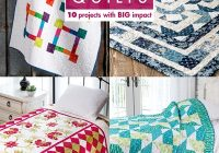 Modern big block quilts 9   Big Block Quilt Patterns For Beginners Gallery