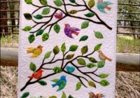 Modern birds of a feather wall hanging pattern 9 Beautiful Quilt Patterns For Wall Hangings