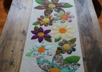 Modern blossoms table runner pattern free bird quilting 9 Modern Quilt Patterns For Table Runners