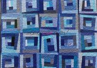 Modern blue daze finished monochromatic quilt log cabin quilt New Monochromatic Quilt Patterns Inspirations
