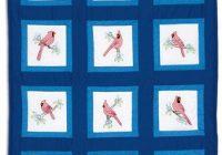 Modern cardinals theme quilt blocks stamped cross stitch kit 9 Elegant Jack Dempsey Quilt Blocks Gallery