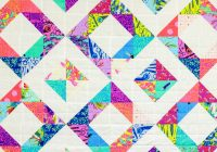 Modern childs play free quilt pattern easy ba quilt with half Interesting Scrappy Half Square Triangle Quilt Patterns Gallery