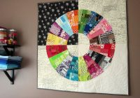 Modern color wheel quilt kit pattern stitched in color Color Wheel Quilt Pattern