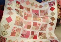 Modern country roses four patch quilt pattern susies scraps Beautiful Four Patch Quilt Patterns
