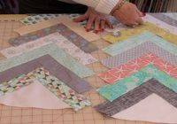 Modern create a chevron quilt with no blocks at all diy ways Beautiful Chevron Quilt Pattern No Triangles Inspirations