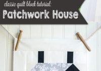 Modern easy quilt block tutorial patchwork house block 9 Unique House Quilt Block Patterns