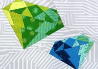 Modern electric diamond paper pieced quilt patterns paper 10 Interesting Gemstomes Quilt Pattern Free