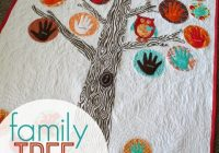 Modern family tree quilt a girl and a glue gun 11 Interesting Family Tree Quilt
