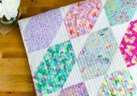 Modern fat quarter fancy free quilt pattern using 9 fat quarters 11 Interesting Fat Quarter Quilts Patterns