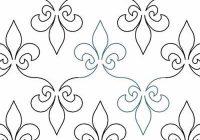 Modern fleur de lis karlee porter digitized quilting designs 10 Stylish Free Fleur De Lis Quilt Pattern