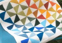 Modern free knitting pattern for country quilt ba blanket 11 Modern Knitted Patchwork Quilt Patterns