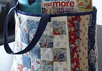 Modern free pattern day tote bags tote bags sewing quilted 9 Interesting Quilted Tote Bags Patterns