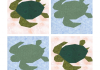 Modern free quilt pattern paper pieced sea turtle i sew free 9 Cool Turtle Rag Quilt Pattern Inspirations