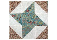 Modern friendship star quilt block pattern with extra triangles 12.5 Quilt Block Patterns