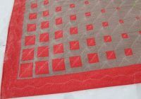 modern geometric three color quilt pattern free motion Elegant Three Color Quilt Patterns Inspirations