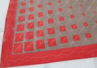 modern geometric three color quilt pattern free motion Interesting Three Color Quilts Blocks