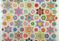 Modern grandmothers flower garden star quilt a long q is for quilter 10 Modern Grandmother Flower Garden Quilt Pattern Gallery