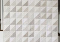 modern gray and white neutrals quilt half square triangle Cozy All White Quilt Patterns Inspirations