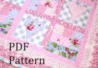 Modern heart quilt pattern ba quilt pattern ba girl quilt pattern log cabin quilt pattern patchwork quilt pattern ba quilt pattern 9 Cozy Baby Patchwork Quilt Patterns For Beginners Inspirations