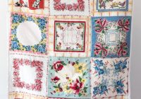 Modern how to make a quilt from vintage hankies polka dot chair 9 New Handkerchief Quilt Patterns