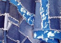 Modern how to make an easy blue jean rag quilt inspired quilting 10 Interesting Denim Rag Quilt Patterns
