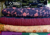 Modern indian vintage kantha quilts 10 Modern Vintage Kantha Quilt