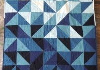 modern indigo ombre triangles unisex ba quilt Elegant Ombre Triangle Quilt Gallery