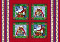 Modern jim shore santa pillow fabric panel folk art santas 9 Elegant Beautiful Jim Shore Quilting Fabric Ideas Gallery