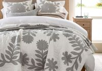 Modern lilo handcrafted cotton quilt gray Modern Pottery Barn Quilts Gallery