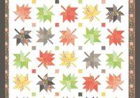 Modern maple charm quilt pattern autumn maple leaves quilt pattern fall leaves throw quilt pattern coriander quilts cq132 corey yoder 9 Elegant Maple Leaf Quilt Patterns Gallery
