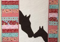 Modern mare and foal quilt pattern 11 Stylish Silhouette Quilt Patterns Inspirations