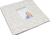 Modern moda white christmas metallic layer cake zen chic 1650lcm New Stylish Layer Cake Quilting Fabric