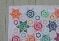 Modern modern hexagon quilt color girl quilts sharon mcconnell 11 Modern Modern Hexagon Quilt Patterns Inspirations