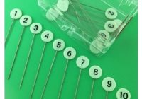 Modern numbered pins 1 10 quilt in a day quilting notions 10 Beautiful Numbered Pins For Quilting And Sewing Inspirations