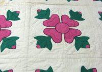 Modern ohio rose of sharon hand stitched cotton quilt c1930 lot 10 Beautiful Rose Of Sharon Quilt Pattern Inspirations