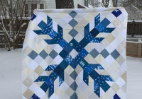 Modern one giant snowflake makes a striking quilt quilting digest 11 Beautiful Snowflake Quilt Block Pattern