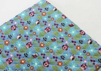 Modern owl flower cotton blend ready quilted fabric pre quilted Unique New Pre Quilted Christmas Fabric Gallery