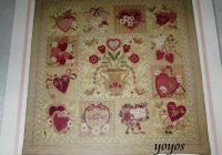 Modern pattern quilt vintage valentine verna mosquera quilt design applique wall hanging instruction full size pattern craft color photos 10 Cool Vintage Valentine Quilt Pattern Inspirations