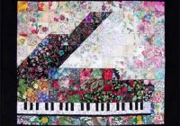 Modern piano watercolor quilt kit without border Cozy Watercolor Quilts Gallery