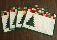 Modern pin on crafts 10   Quilted Christmas Placemat Patterns Free Inspirations