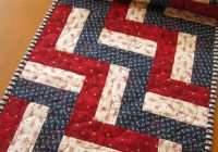 Modern pin on placemats table runners pot holders and mug rugs 10 Stylish Easy Quilted Table Runner Patterns Inspirations